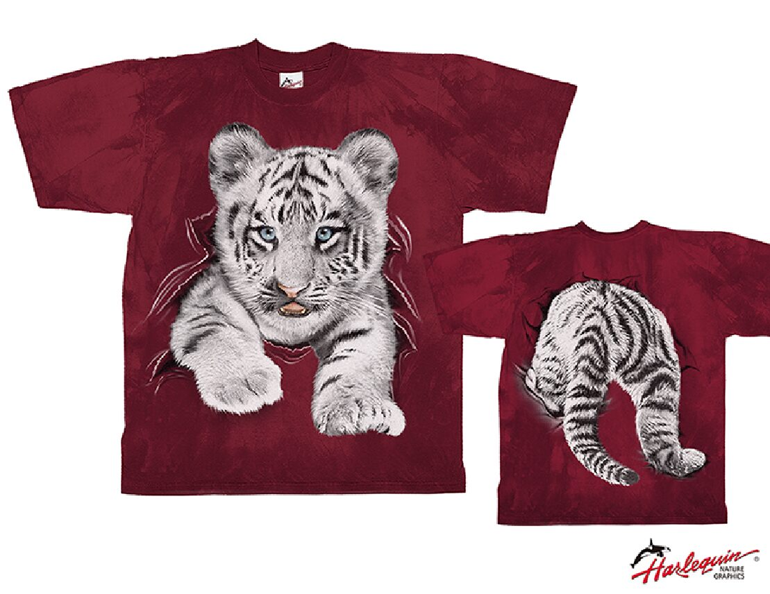 CTI21 White Tiger Cub Rip Through_Burgundy