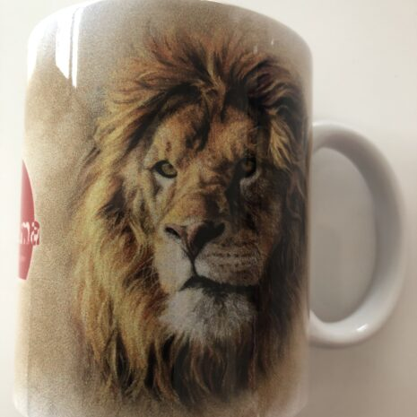 Tasse mit Tiermotiv Löwe