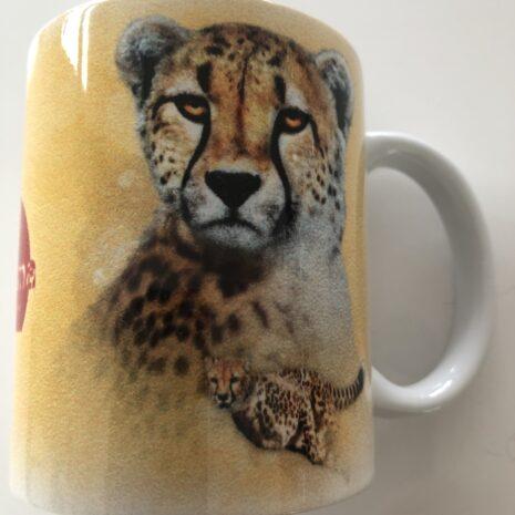 Tasse mit Tiermotiv Gepard