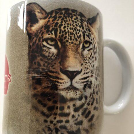 Tasse mit Tiermotiv Leopard